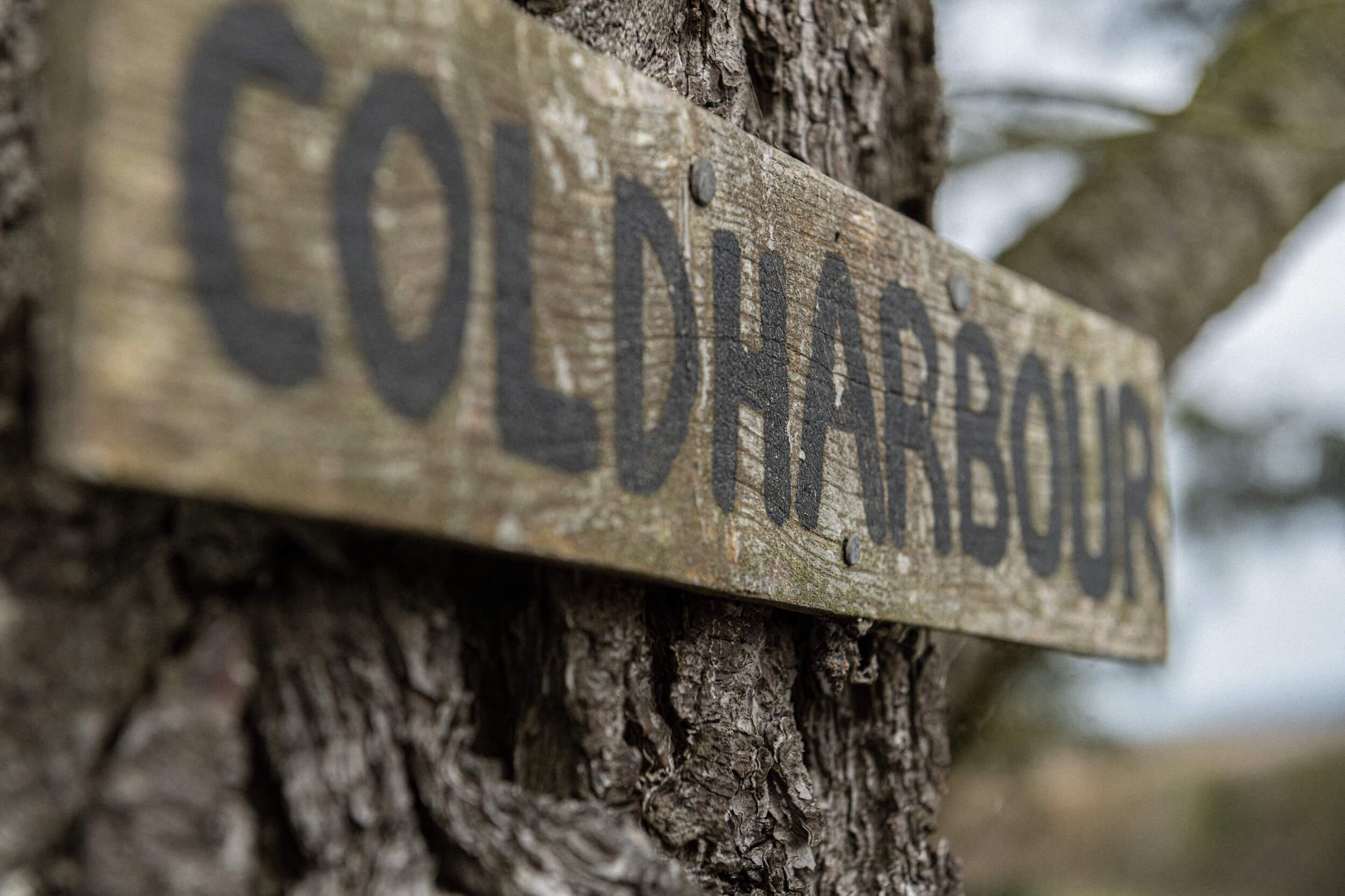 The old Coldharbour farm sign