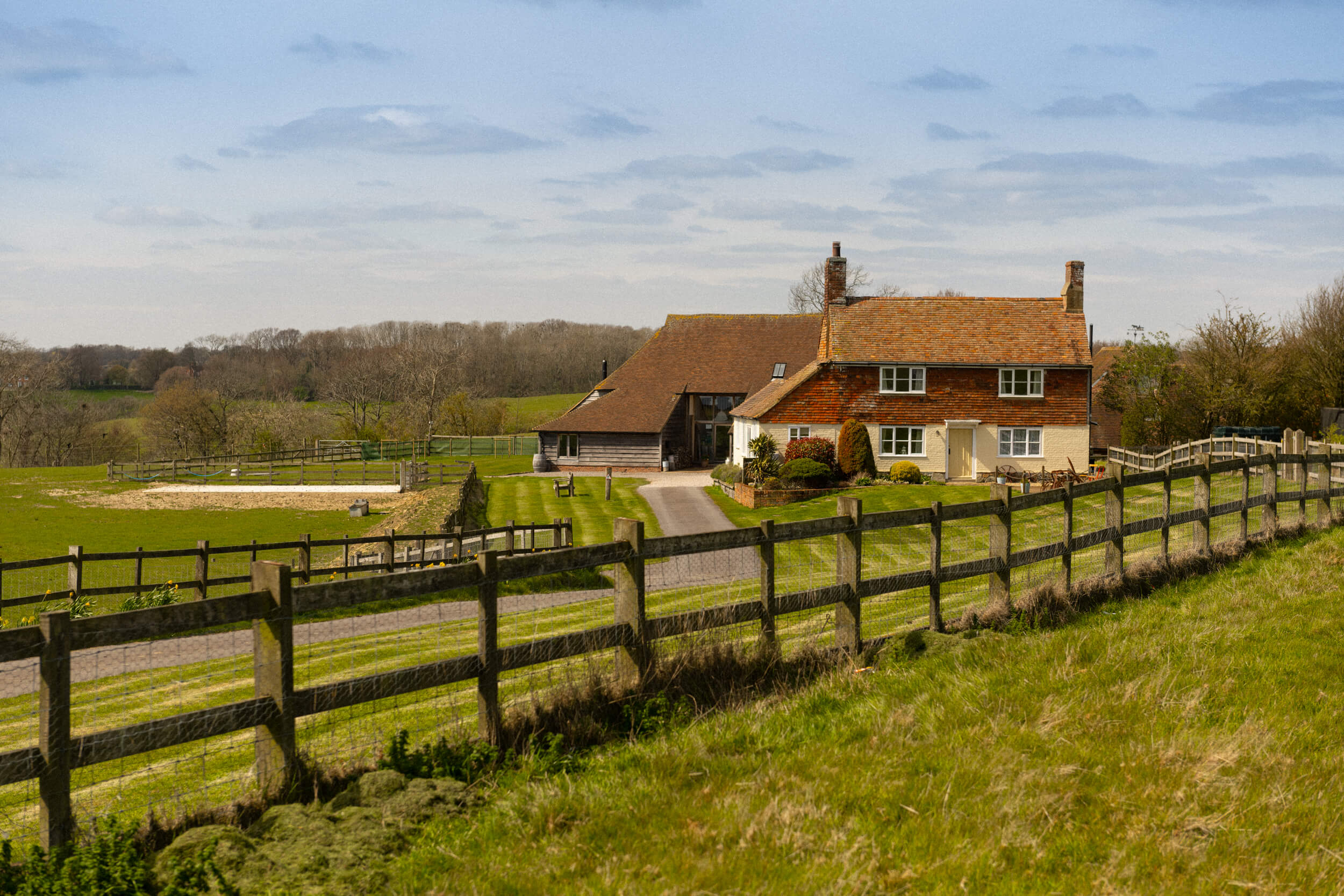 A bright view of Coldharbour Cottage