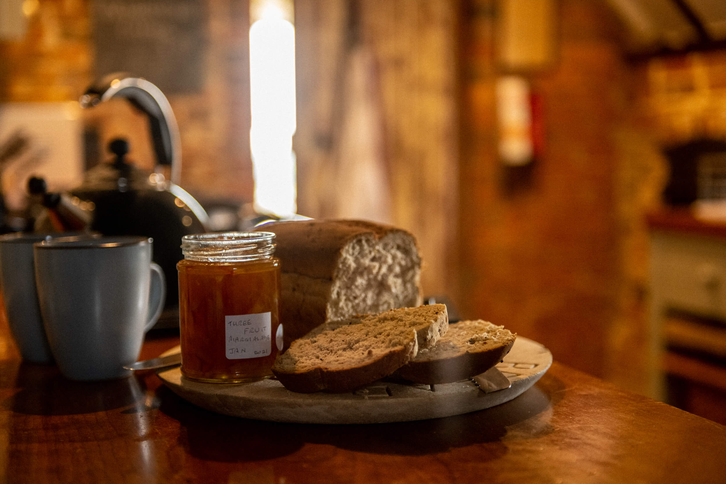 Bread and homemade jam