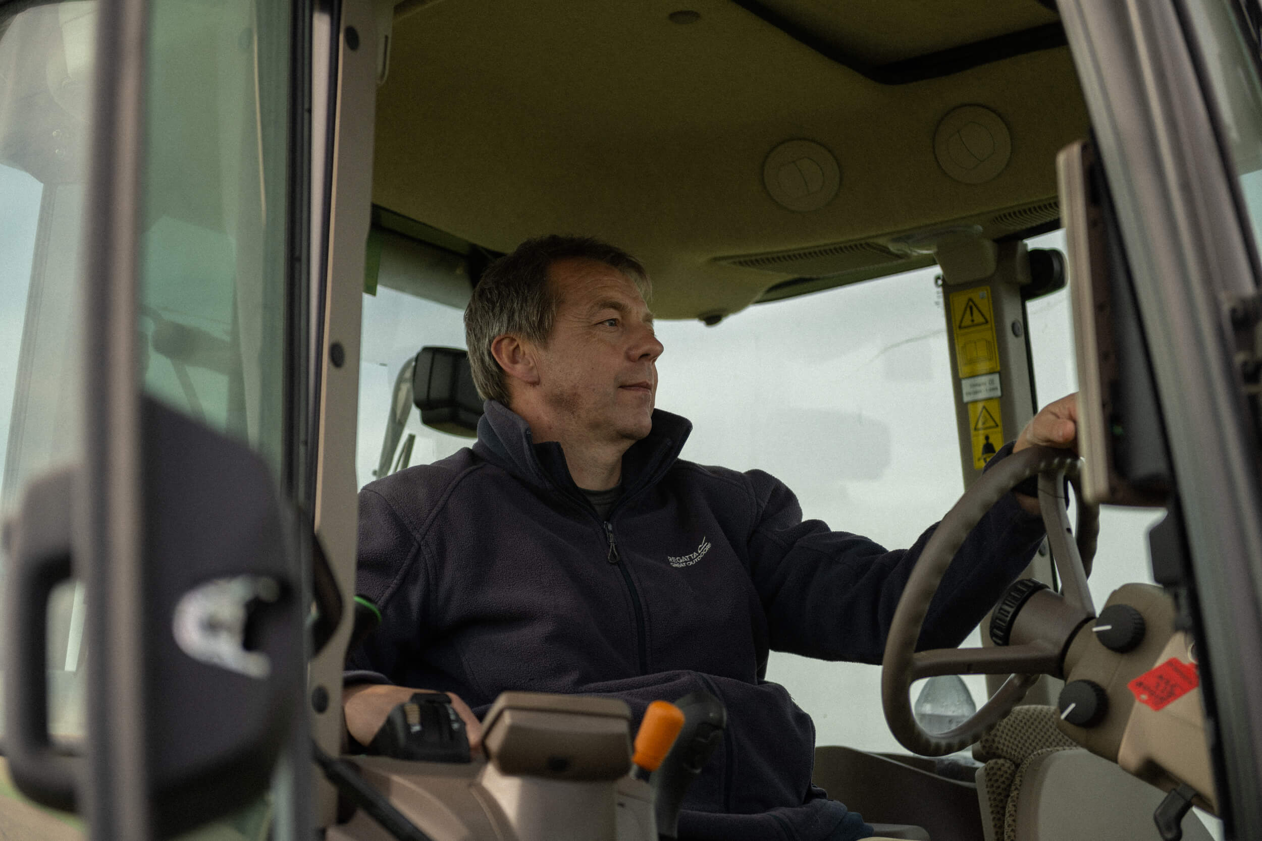 Andrew Jempson driving a tractor