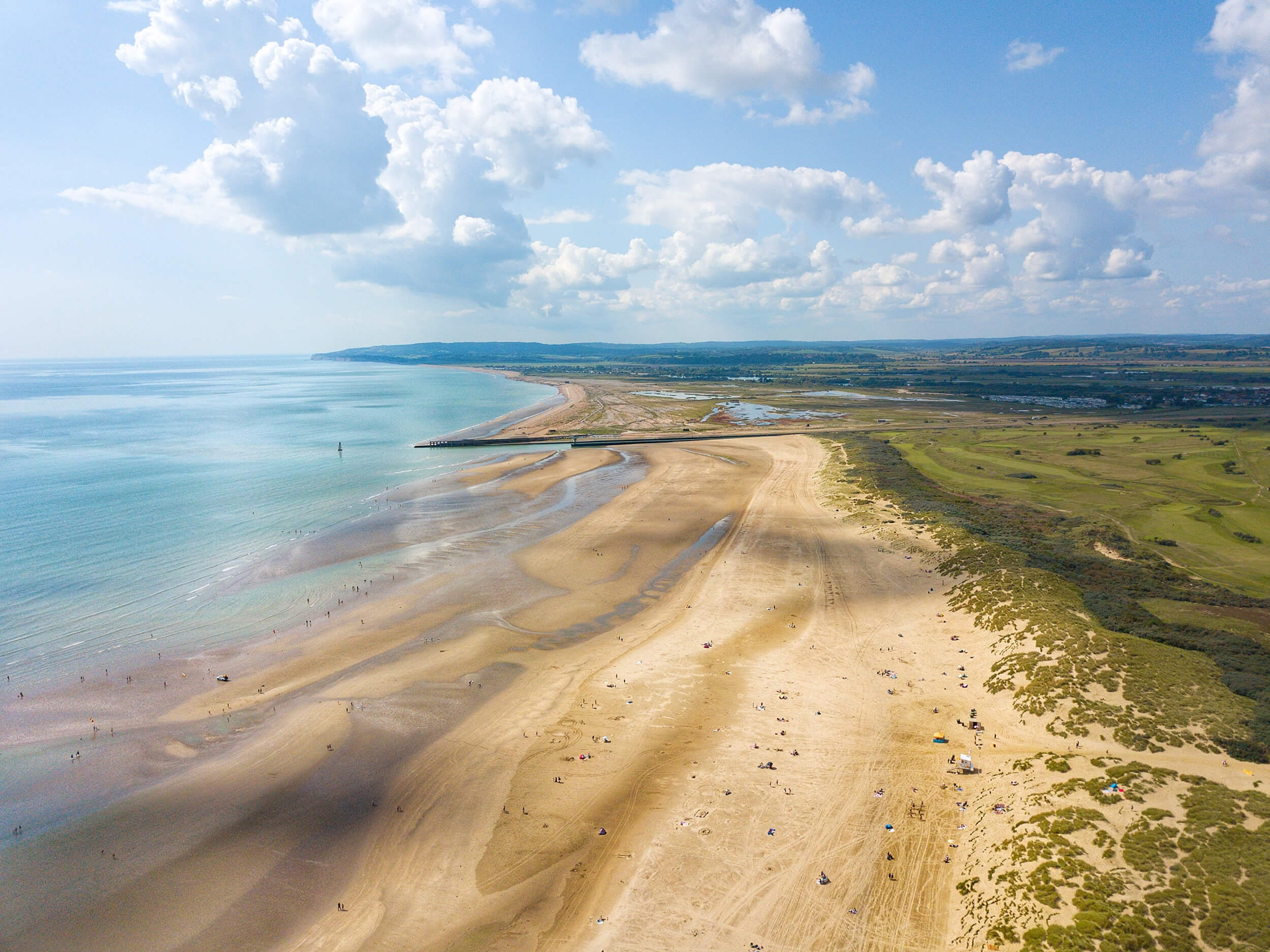 Camber Sands from above