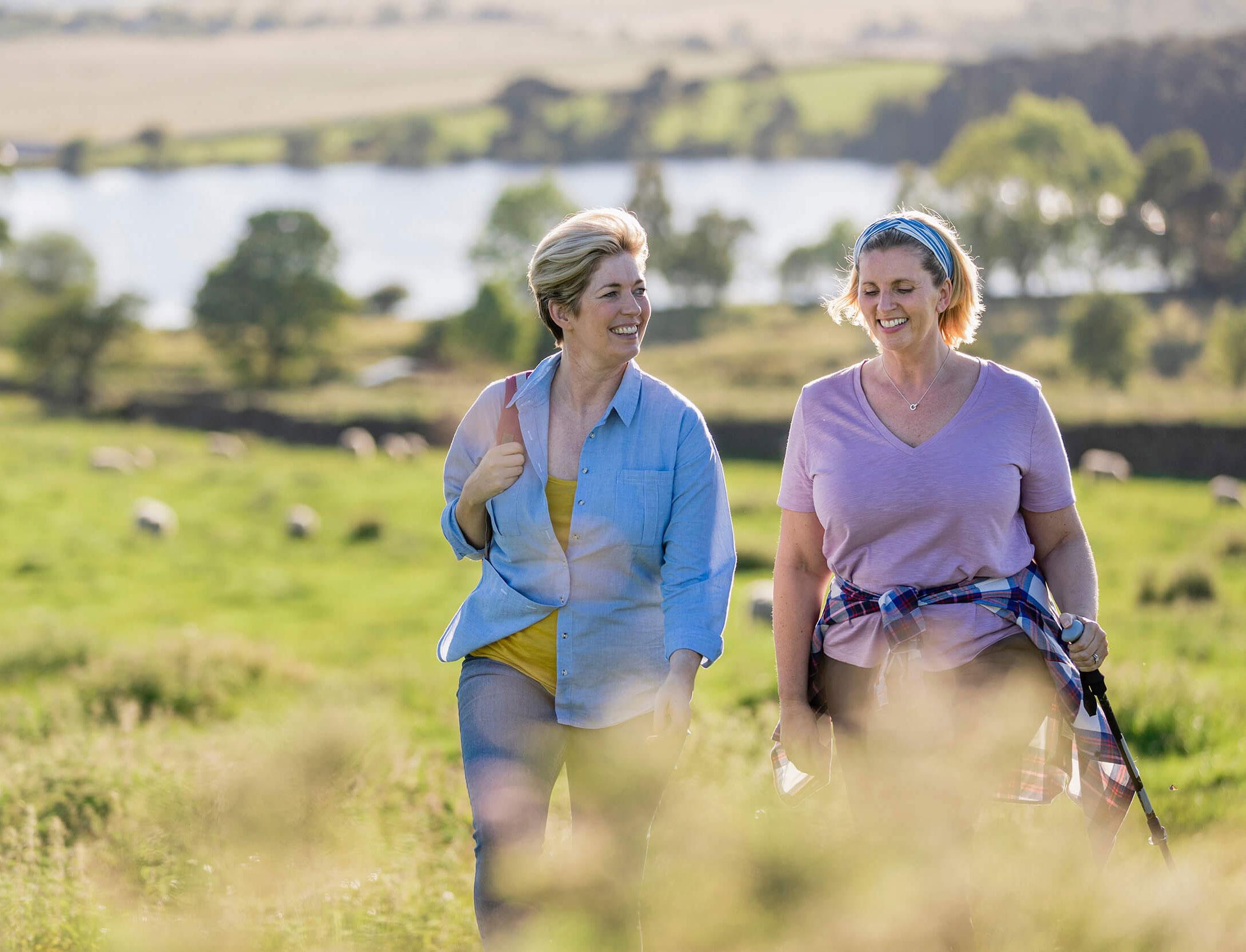 2 women taking a walk