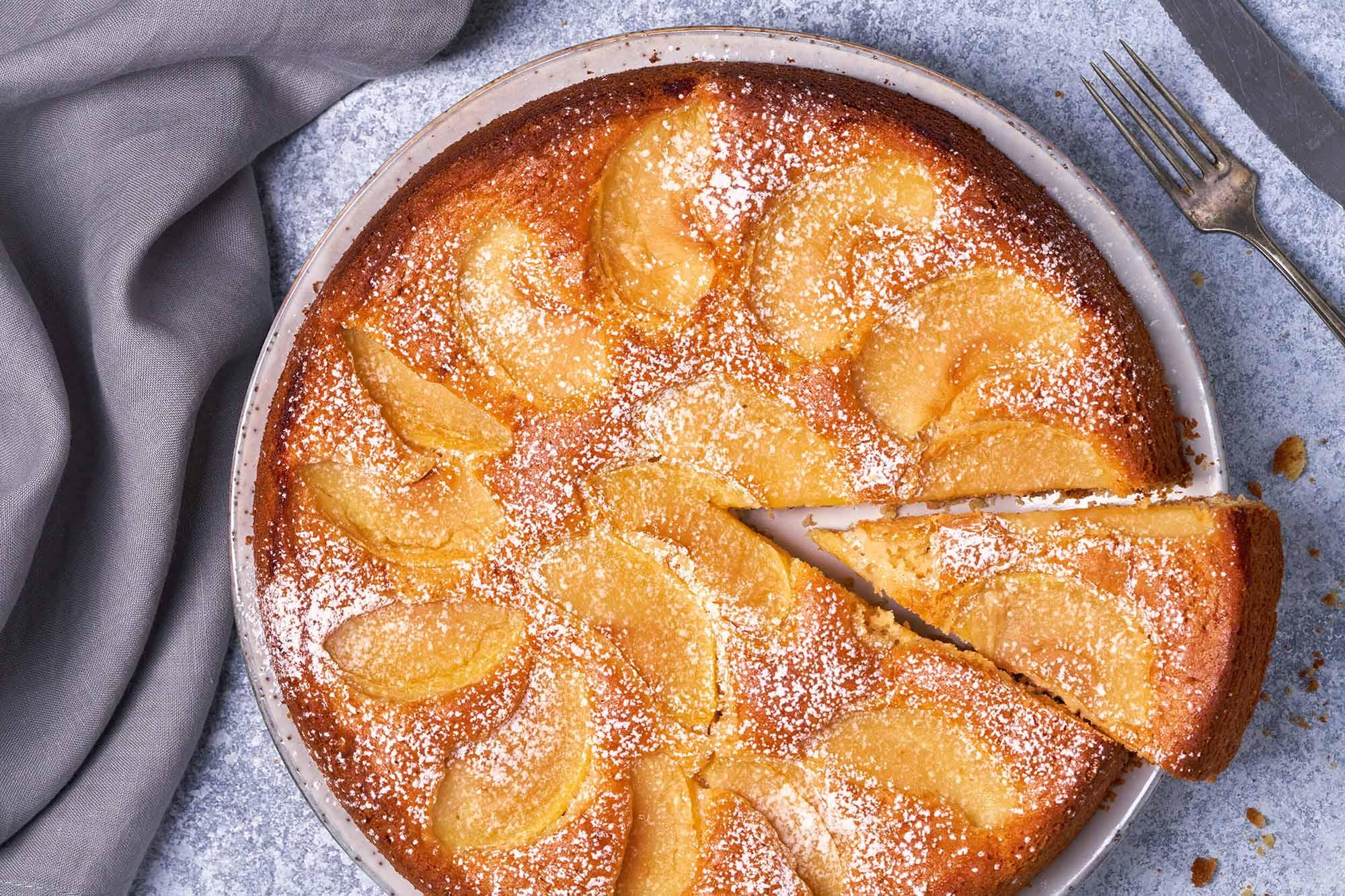 Apple tart on plate